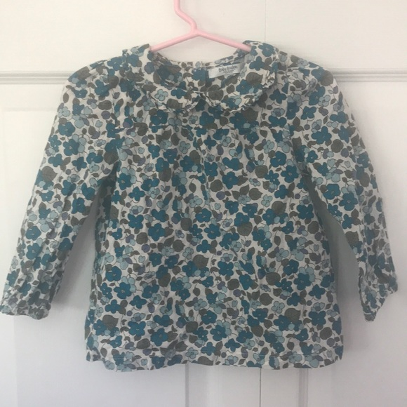 Boden Shirts Tops Baby Long Sleeve Floral Fall Blouse 1824m